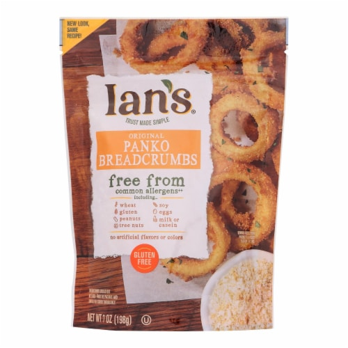 Ian's Panko Breadcrumbs - Gluten Free - Case of 8 - 7 oz. Perspective: front