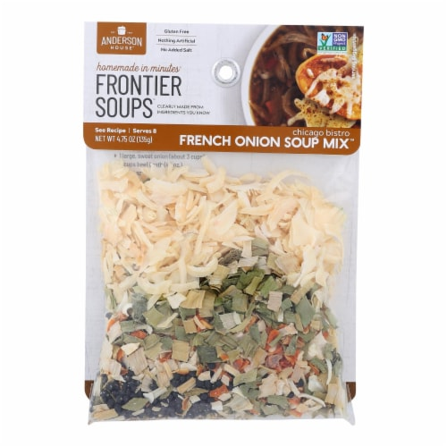Frontier Soup Soup - Chicago Bistro French Onion - Case of 8 - 4.75 oz Perspective: front