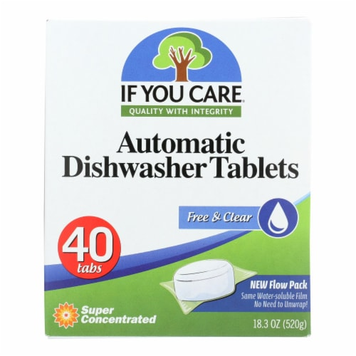 If You Care Automatic Dishwasher Tabs - 40 Count - Case of 8 Perspective: front