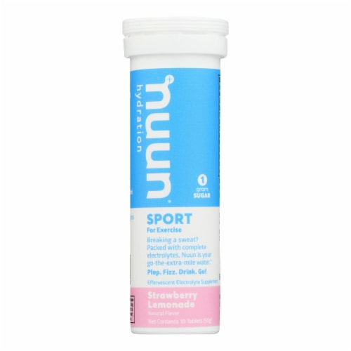 Nuun Hydration Nuun Active - Strawberry Lemonade - Case of 8 - 10 Tablets Perspective: front