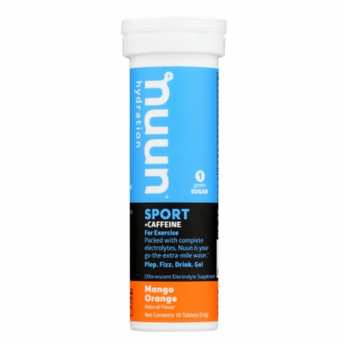 Nuun Hydration Nuun Energy - Mango Orange - Case of 8 - 10 Tablets Perspective: front