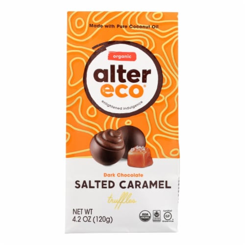 Alter Eco Americas Truffles - Salted Caramel - Case of 8 - 4.2 oz. Perspective: front