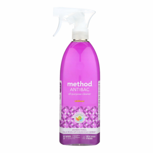 Method Products All Purpose Cleaner - Wildflower - Case of 8 - 28 Fl oz. Perspective: front