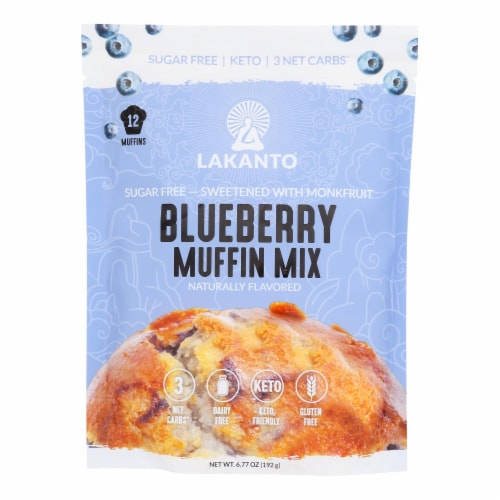 Lakanto - Muffin Mix Blueberry - Case of 8-6.77 OZ Perspective: front