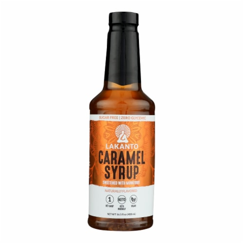 Lakanto - Simple Syrup Caramel - Case of 8 - 16.5 OZ Perspective: front