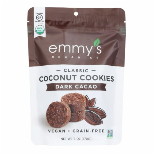 Emmy's Organics  Organic Coconut - Case of 8 - 6 oz. Perspective: front