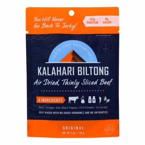Kalahari Biltong Air-Dried Sliced Beef - Case of 8 - 2 OZ Perspective: front