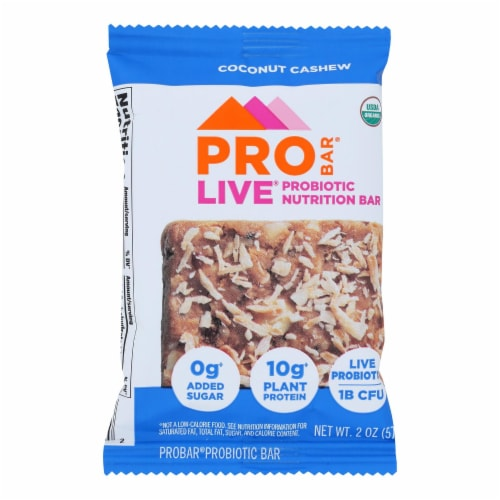 Pro Bar Coconut Cashew P.O.P. Nutritional Bar  - Case of 8 - 2.00 OZ Perspective: front
