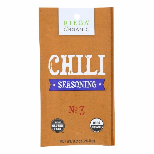Riega Foods Organic Chili Seasoning  - Case of 8 - 0.9 oz. Perspective: front
