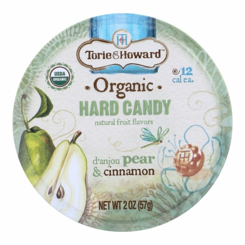 Torie and Howard Organic Hard Candy - Danjou Pear and Cinnamon - 2 oz - Case of 8 Perspective: front