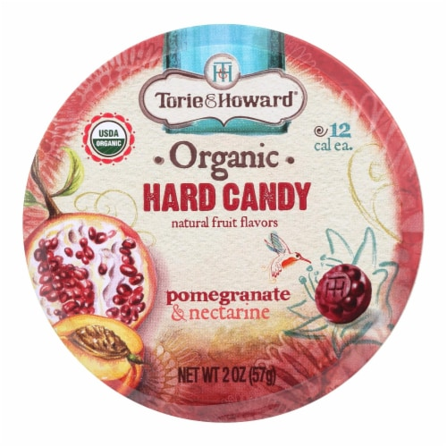 Torie and Howard Organic Hard Candy - Pomegranate and Nectarine - 2 oz - Case of 8 Perspective: front