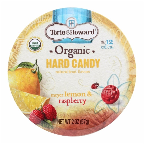 Torie and Howard Organic Hard Candy - Lemon and Raspberry - 2 oz - Case of 8 Perspective: front