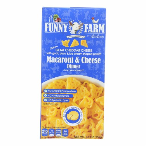 Funny Farm Goat Cheddar Cheese Macaroni & Cheese Dinner  - Case of 8 - 5.5 OZ Perspective: front