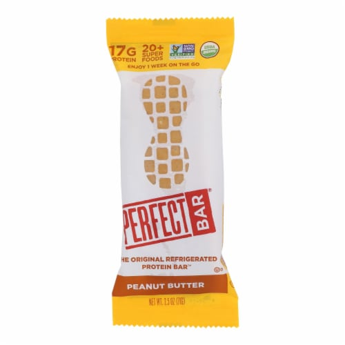 Perfect Bar Peanut Butter Bar - Case of 8 - 2.5 OZ Perspective: front