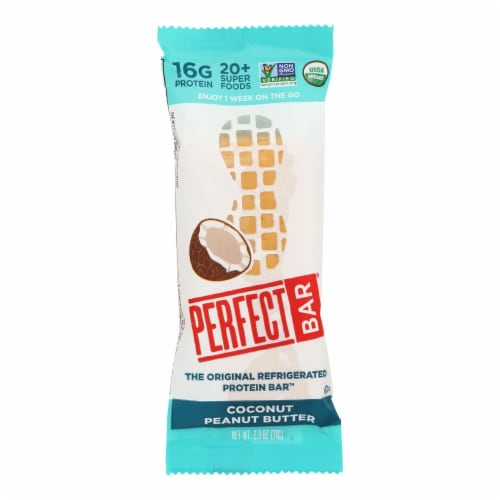 Perfect Bar Coconut Peanut Butter Bar - Case of 8 - 2.5 OZ Perspective: front
