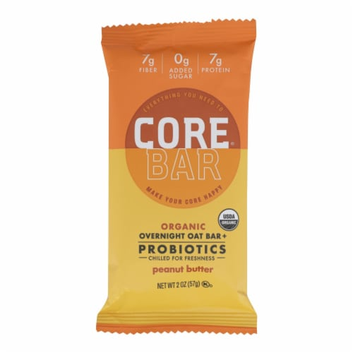 Core Foods - Bar Probiotic Peanut Butter - Case of 8 - 2 OZ Perspective: front