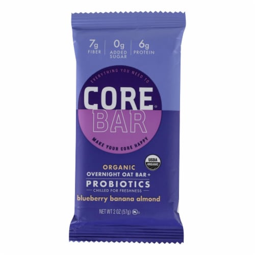 Core Foods - Bar Probiotic Blubry - Case of 8 - 2 OZ Perspective: front