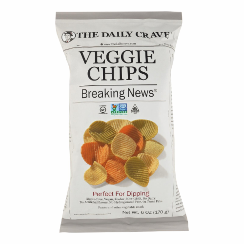 The Daily Crave Veggie Chips - Perfect For Dipping - Case of 8 - 6 oz Perspective: front