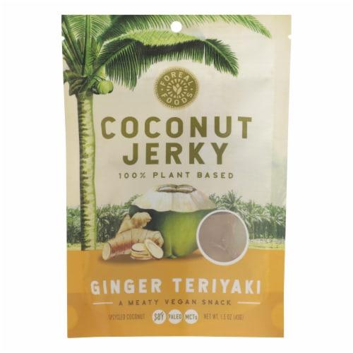 Forreal Foods - Coconut Jerky Gin Teriyaki Vegan - Case of 8 - 1.5 OZ Perspective: front