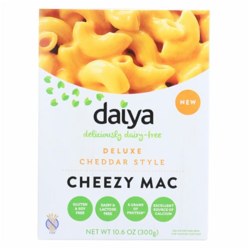 Daiya Foods - Cheezy Mac Deluxe - Cheddar Style - Dairy Free - 10.6 oz. - Case of 8 Perspective: front