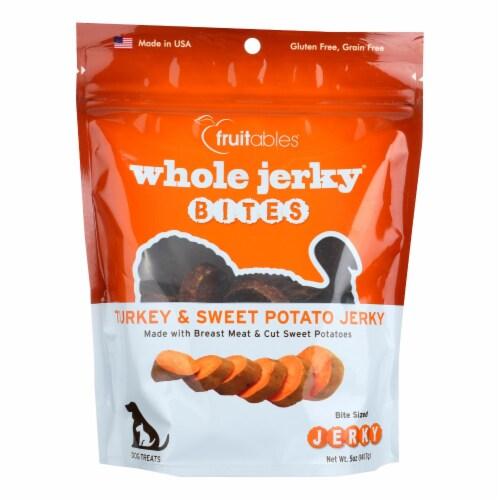 Fruitables Whole Jerky Bites Turkey & Sweet Potato Jerky  - Case of 8 - 5 OZ Perspective: front