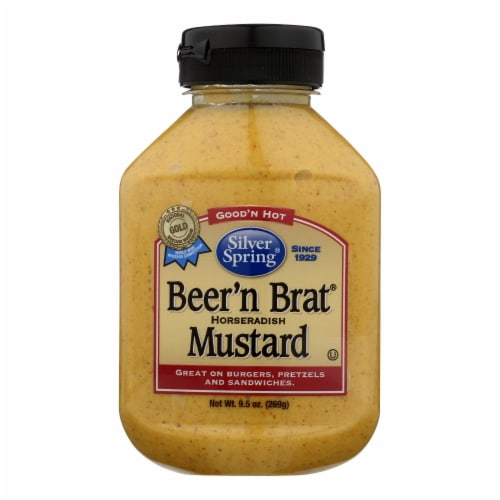 Silver Spring Squeeze - Mustard - Beer Brat - Case of 9 - 9.5 oz Perspective: front