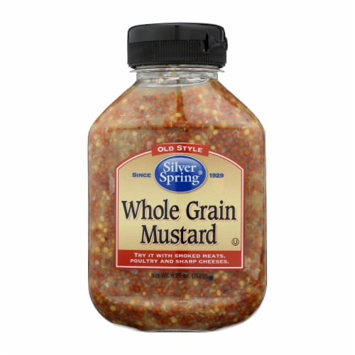 Silver Spring Mustard - Whole Grain - Case of 9 - 9.25 oz Perspective: front