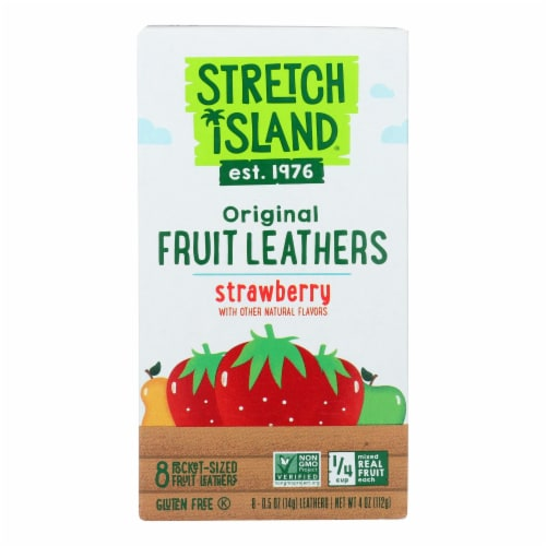 Stretch Island Organic Fruit Strip - Strawberry - Case of 9 - 4 oz. Perspective: front