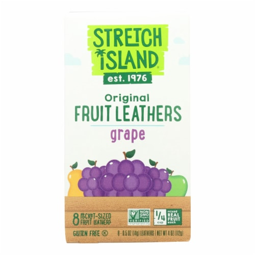 Stretch Island All-Natural Fruit Strip - Grape - Case of 9 - 4 oz. Perspective: front