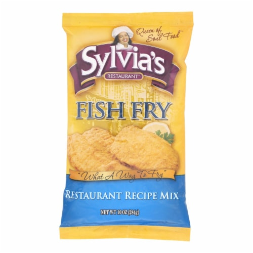 Sylvia's Fish Fry Mix - Case of 9 - 10 oz. Perspective: front