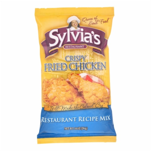 Sylvia's Crispy Fried Chicken Mix - Case of 9 - 10 oz. Perspective: front