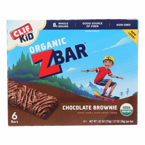 Clif Kid Zbar - Chocolate Brownie - Case of 9 - 7.62 oz Perspective: front