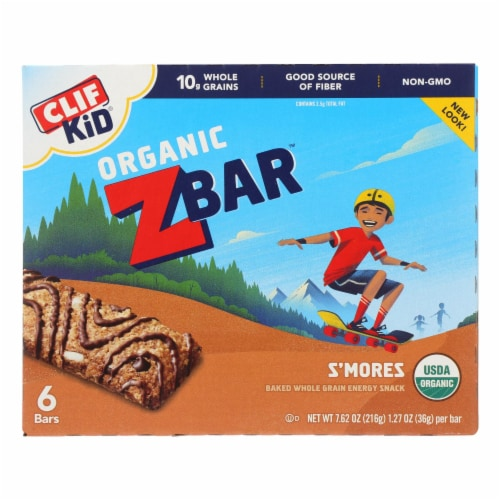 Clif Kid Zbar - Smores - Case of 9 - 7.62 oz Perspective: front