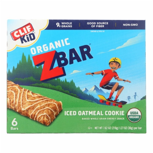 Clif Kid Zbar - Iced Oatmeal Cookie - Case of 9 - 7.62 oz Perspective: front