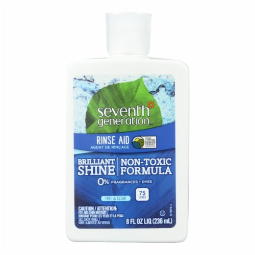 Seventh Generation Dish Rinse Aid - Free and Clear - 8 oz - Case of 9 Perspective: front