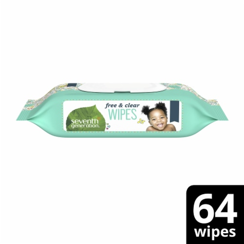Seventh Generation Baby Wipes - Free and Clear - 64 Count Perspective: front