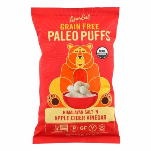 Lesser Evil Puffs - Crunchy Him Slt and Apple Cider Vinegar - Case of 9 - 5 oz. Perspective: front