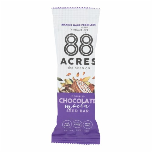 88 Acres - Seed Bars - Double Chocolate Mocha - Case of 9 - 1.6 oz. Perspective: front