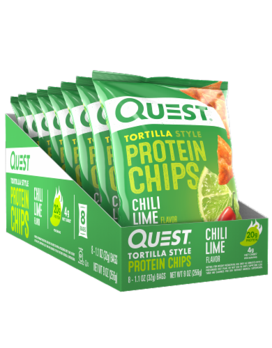 Quest Tortilla Style Chili Lime Protein Chips Perspective: front
