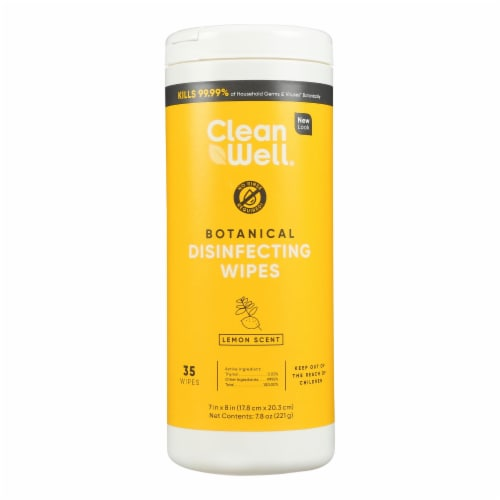 Cleanwell - Disinfecting Wipes Lemon - Case of 9-35 CT Perspective: front