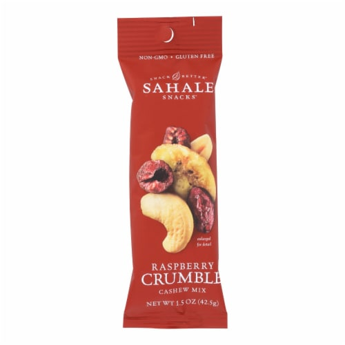 Sahale Raspberry Crumble Cashew Snack Mix  - Case of 9 - 1.5 OZ Perspective: front