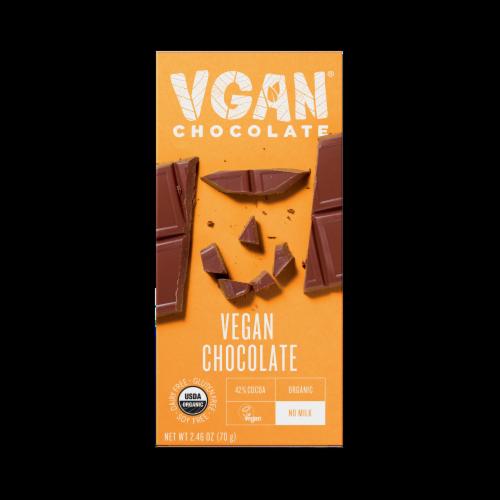 Vgan Chocolate- Vegan Milk Chocolate Bar Perspective: front