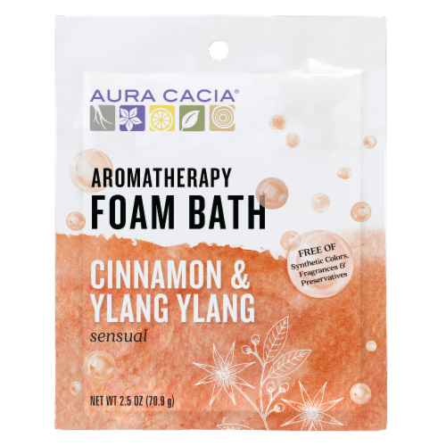 Aura Cacia - Foam Bath Sensual Cinnamon and Ylang Ylang - 2.5 oz - Case of 6 Perspective: front