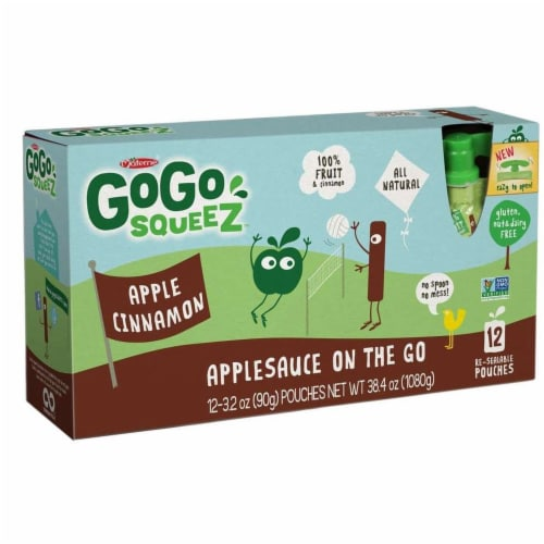 GoGo Squeez Apple Cinnamon On The Go Applesauce (6 Pack) Perspective: front