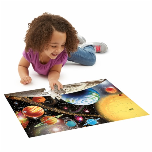 Melissa & Doug® Solar System & Underwater Puzzle Bundle Perspective: left