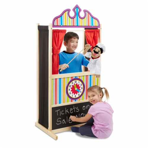 Melissa and Doug® Deluxe Puppet Theater Perspective: left
