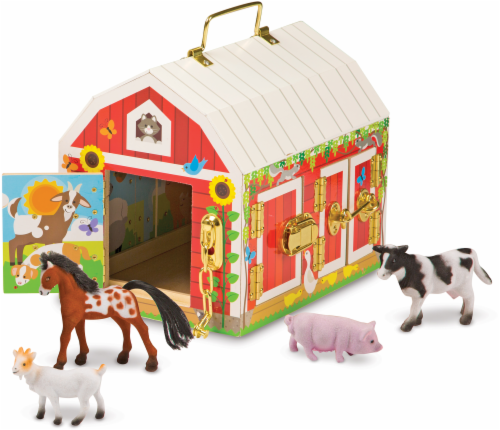 Melissa and Doug® Latches Barn Playset Perspective: left