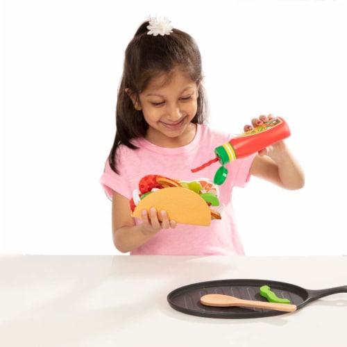 Melissa & Doug® Fill & Fold Taco Tortilla Play Set Perspective: left