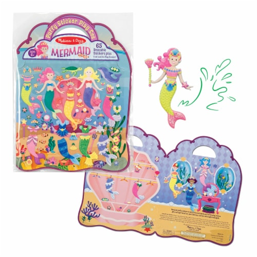 Melissa and Doug® Mermaid Puffy Sticker Play Set Perspective: left