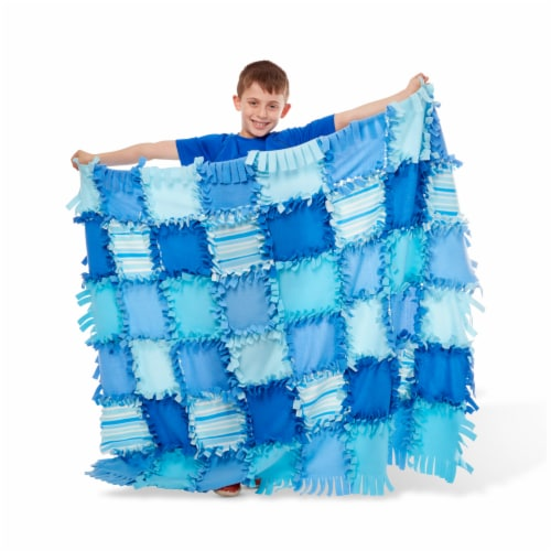 Melissa & Doug® Created by Me Striped Fleece Quilt Perspective: left